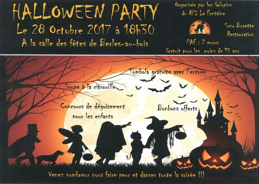 halloween-party- -28-octobre-2017-organisée par-les-Galopins- du-RPI-La- Fontaine