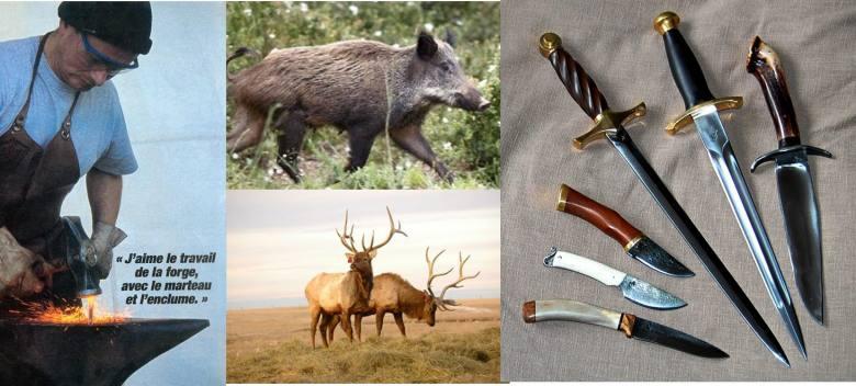 couteau,dague,chasse,forgé