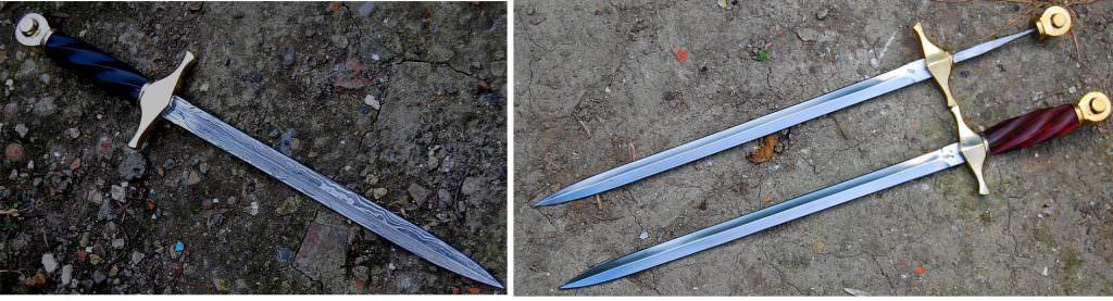 dagues de vénerie lame en damas ou en acier carbone